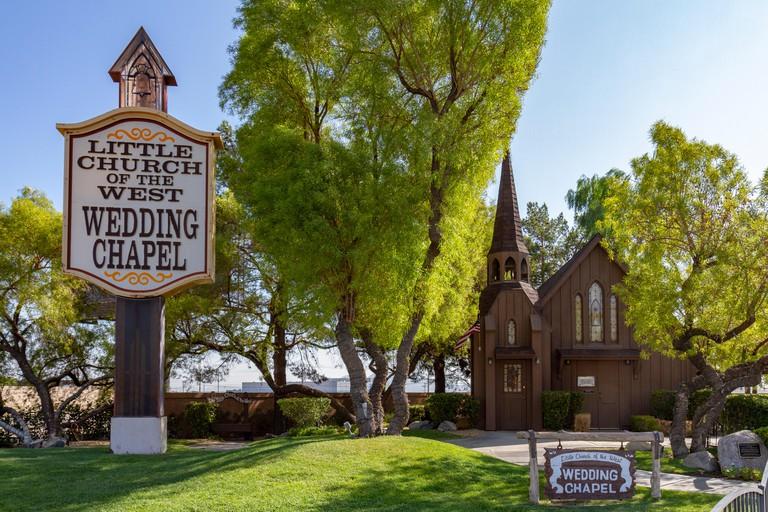 The Little Church of the West Wedding Chapel, S Las Vegas Blvd, Las Vegas, Nevada, United States.