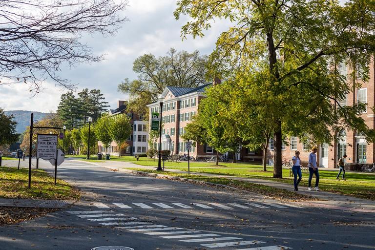 Hanover, New Hampshire. Tuck Drive, Dartmouth College.