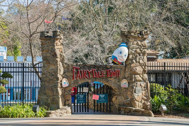 Sacramento, FEB 21: Exterior entrance of Fairytale Town on FEB 21, 2018 at Sacramento, California