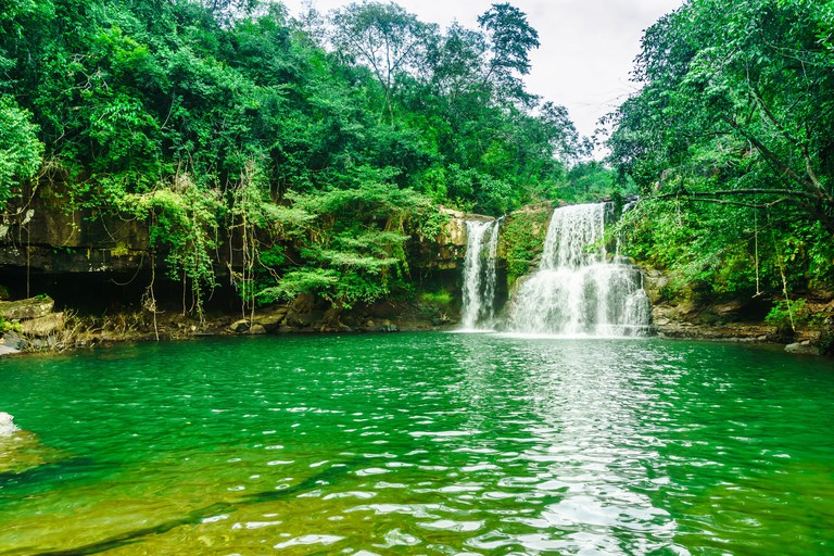 View on Khlong Chao Waterfall on Koh Kood island - Thailand M92Y38