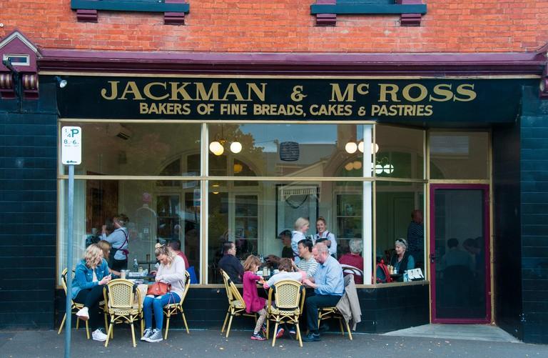 Bakery cafe in Hampden Road, Battery Point, Hobart, Tasmania, Australia