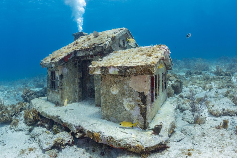 Underwater house at Musa, Isla Mujeres, Mexico