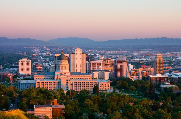 Salt Lake City, Utah at sunset