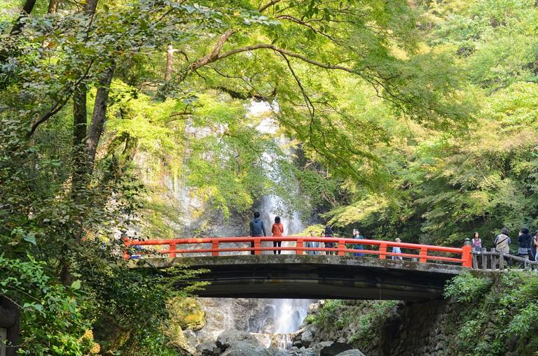 DTR7CE Minoh Falls in Minoh Park near Osaka in Japan.