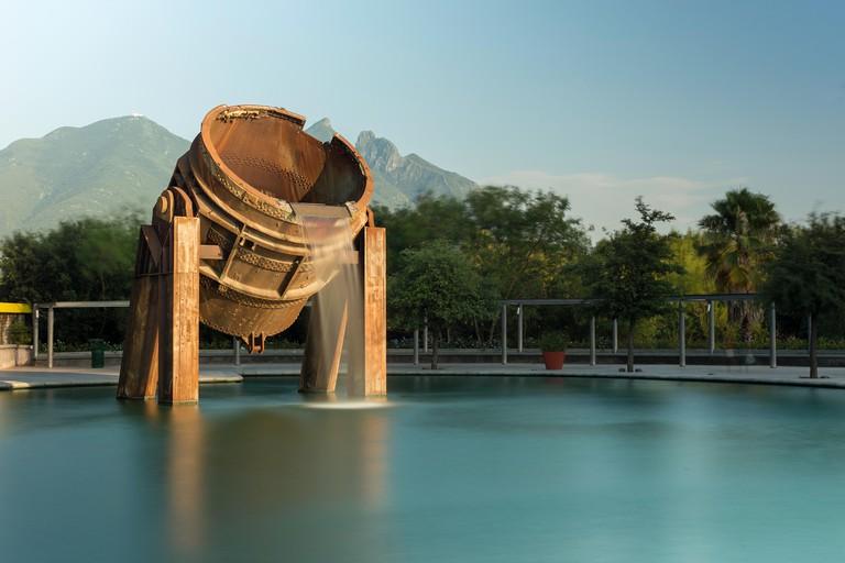 Fuente de Crisol (Melting Pot Fountain), Paseo Santa Lucia, Parque Fundidora, Monterrey, Nuevo Leon, Mexico