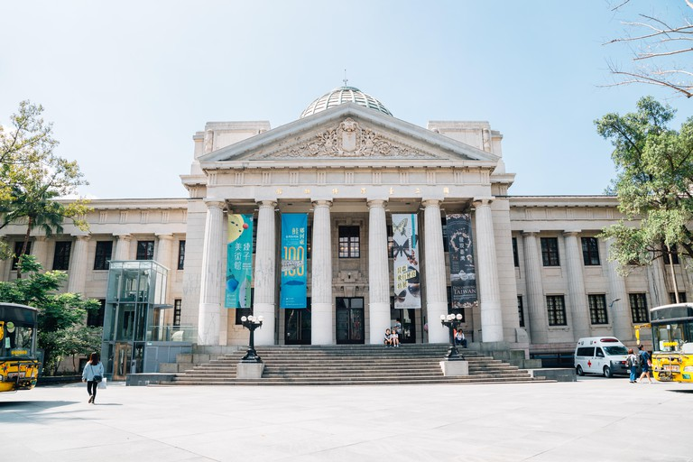 Taipei, Taiwan - May 2, 2018 : National Taiwan Museum at 228 Peace Memorial Park