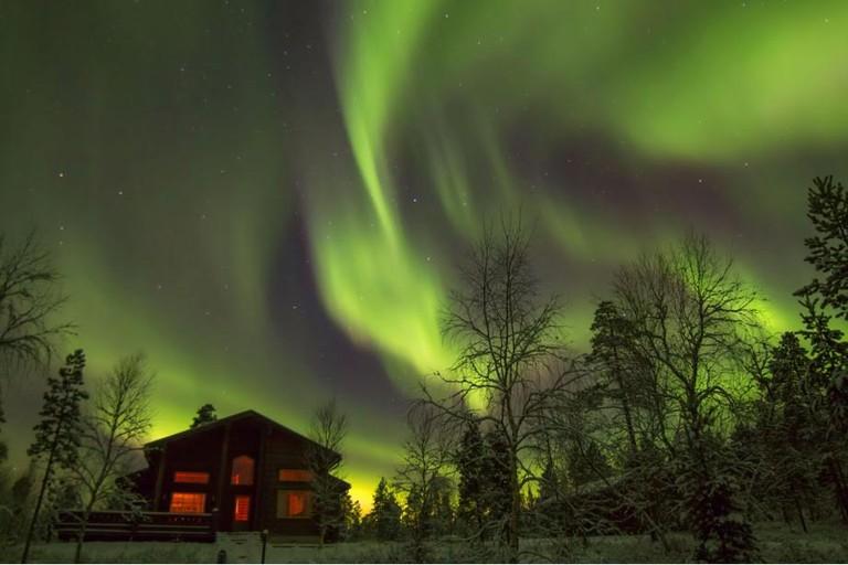 Northern lights Aamunkoi by Georg Keller