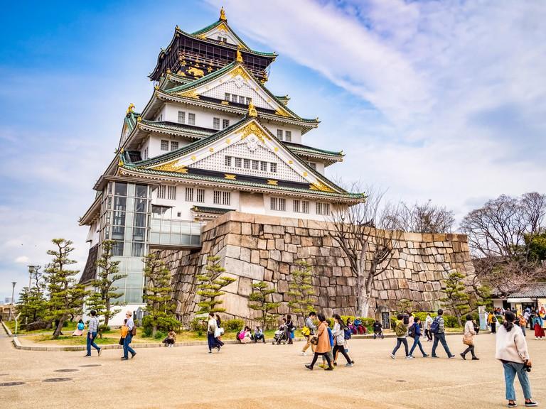 28 March 2019: Osaka, Japan - The main keep of Osaka Castle, Osaka, Japan T9D7W1 28 March 2019: Osaka, Japan - The main keep of Osaka Castle, Osaka, Japan