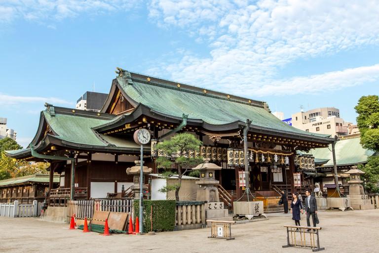 GN6YCY Tenmangu Shrine, Osaka, Japan. Image shot 02/2014. Exact date unknown.