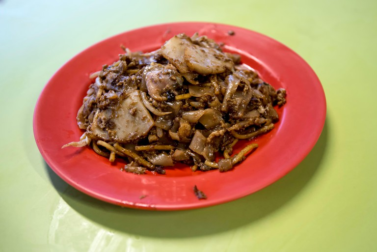 Close-up Of Char Kway Teow In Plate On Table