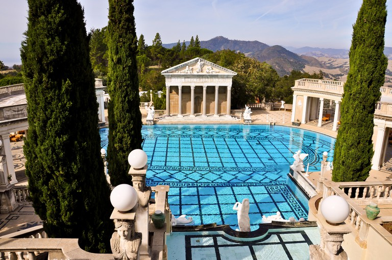 Nov. 9, 2011: Neptune Pool, the outdoor swimming pool ensemble at Hearst Castle, in San Simeon, CA.