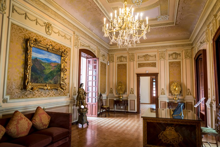 Amparo Museum, 19th century interior, Puebla, city in east-central Mexico