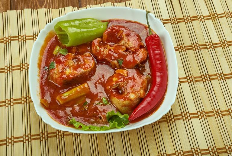 Assam fish curry - Assam Pedas Fish , lassic Peranakan or Nyonya dish