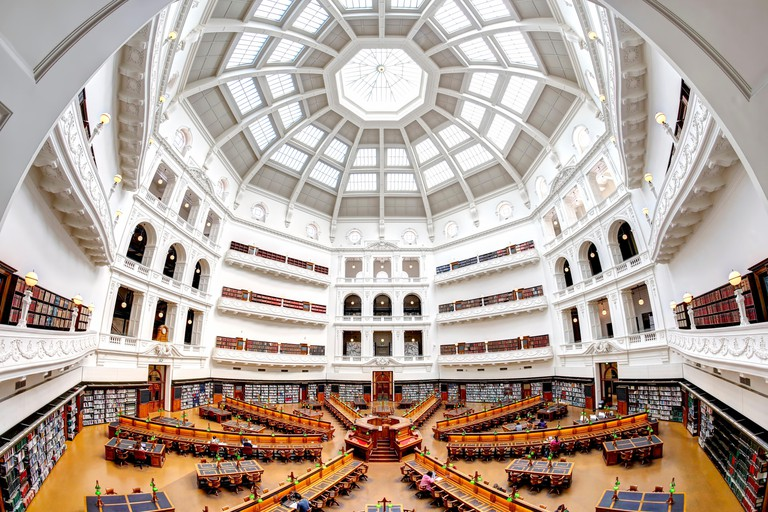 La Trobe Reading Room at the State Library of Victoria, Melbourne, Australia