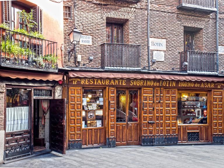 Restaurante Botin. Madrid, Espana - PJ7Y76