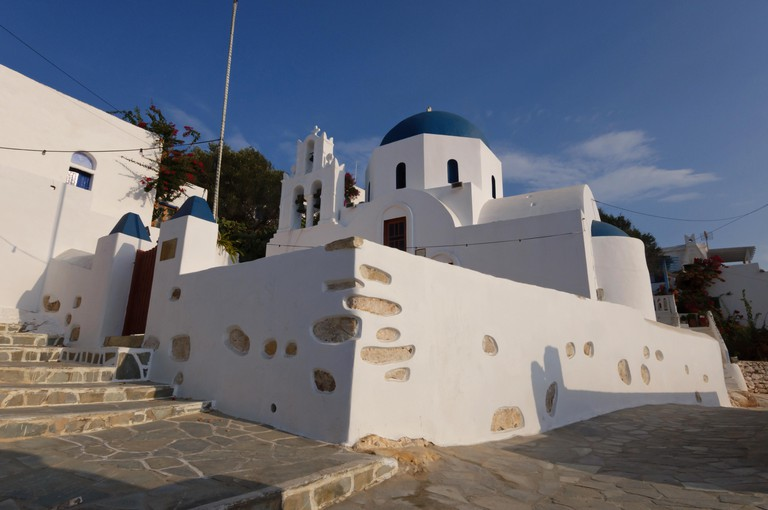 Church of the Holy Cross, the protector of the island Donousa, in Greece