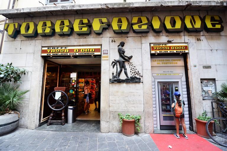 La Casa Del Caffe Tazza D'oro is a coffee establishment in the heart of Rome.