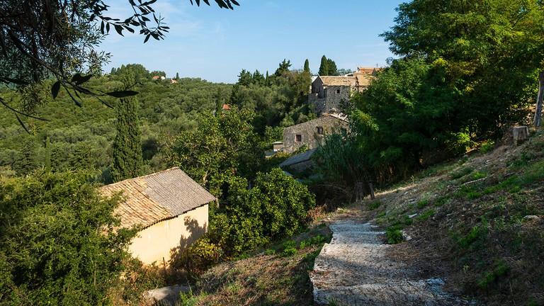 Komianata village, Corfu, Ionian Islands, Greece.