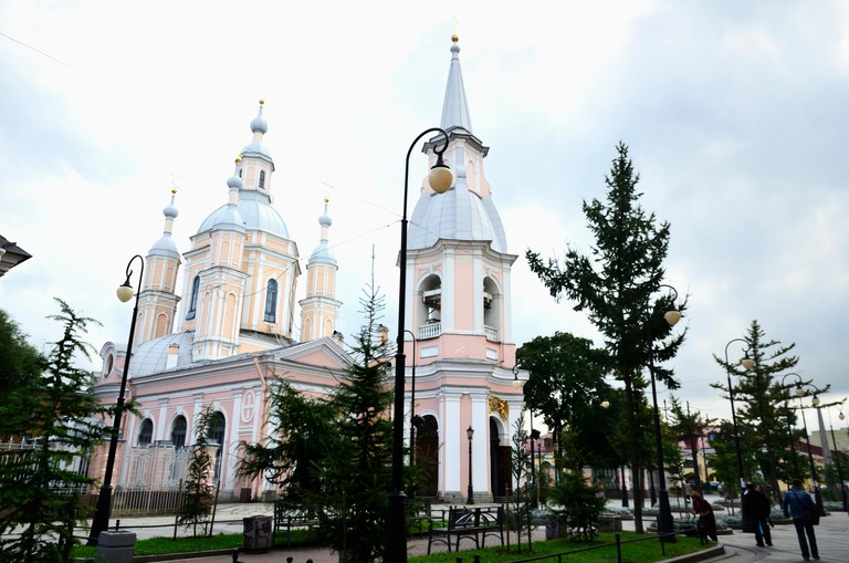 Cathedral of St. Andrew the First-Called. Named after the Apostle Andrew, whom Peter the Great considered his personal protector, and who thus became