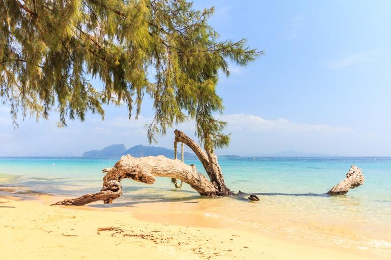 Beautiful white sand beach on Koh Kradan island, Trang Province, Thailand - R7Y7TY