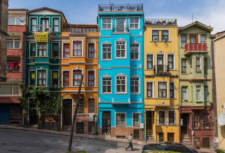 Istanbul, Turkey - even if almost unknown among the tourists, the districts of Fener & Balat are maybe the most typical and colorful areas of Istanbul