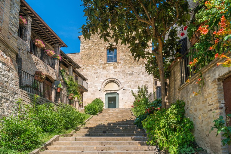 Scenic sight in Bevagna, ancient town in the Province of Perugia, Umbria, central Italy.
