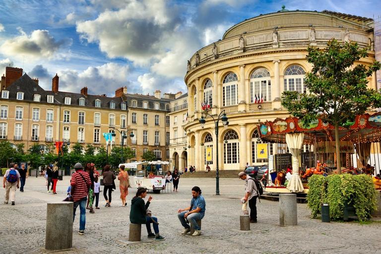 Opera Theater, Rennes, Bretagne, Brittany, France