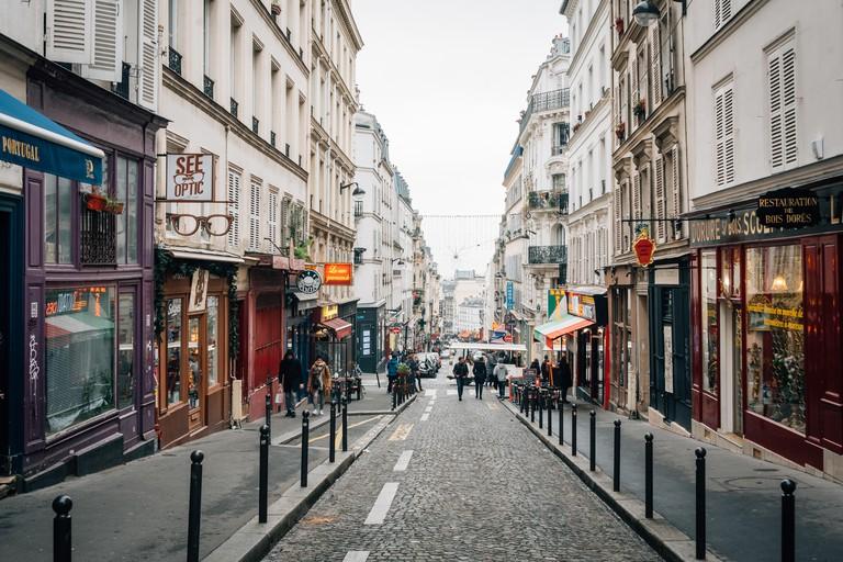 Rue des Martyrs in Montmartre, Paris, France