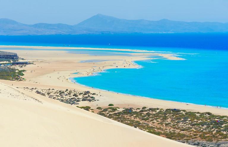 Sotavento Beach, Jandia Peninsula, Fuerteventura, Canary Islands, Spain
