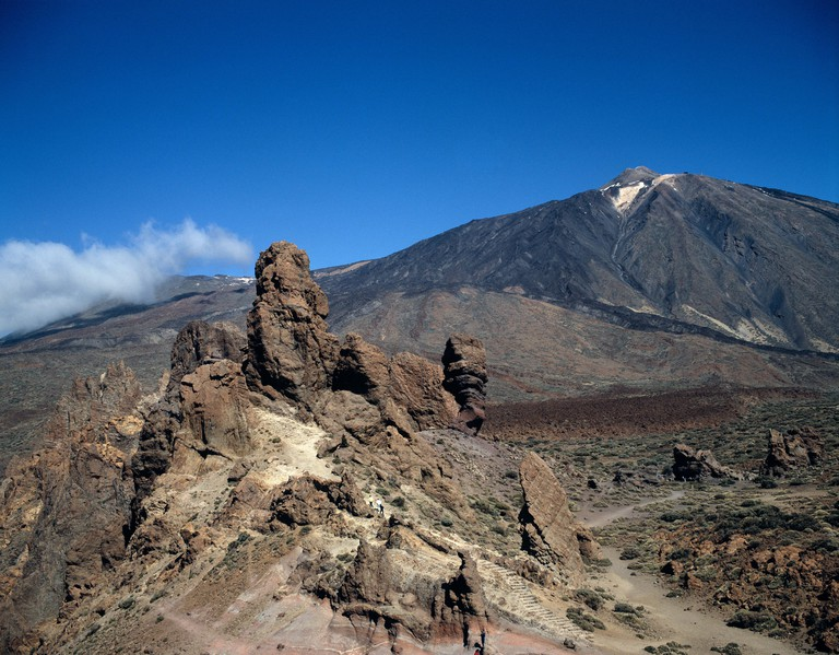 Canary Islands. Landscape.  Mount Teide and Las Canadas. Tenerife.