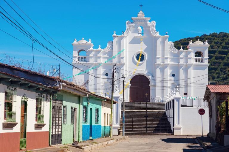 Church in Apaneca, El Salvador. Apaneca, Ahuachapan, El Salvador.