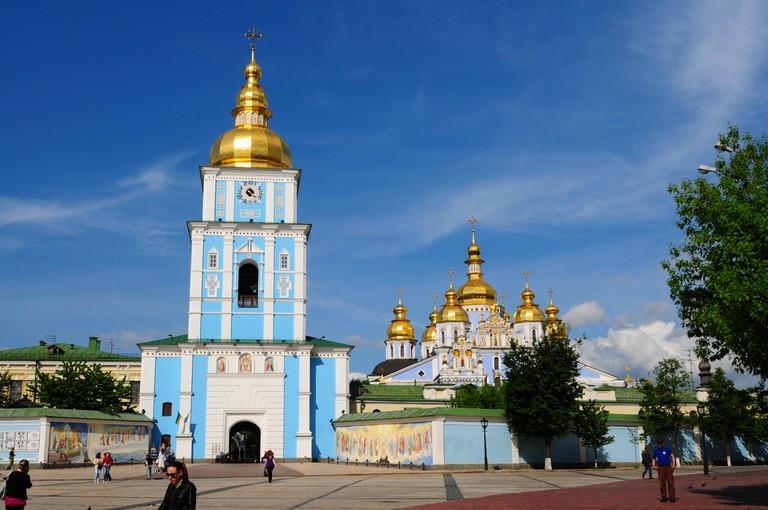 Kiev, Ukraine, May 2011. St. Michael's Golden-Domed Monastery
