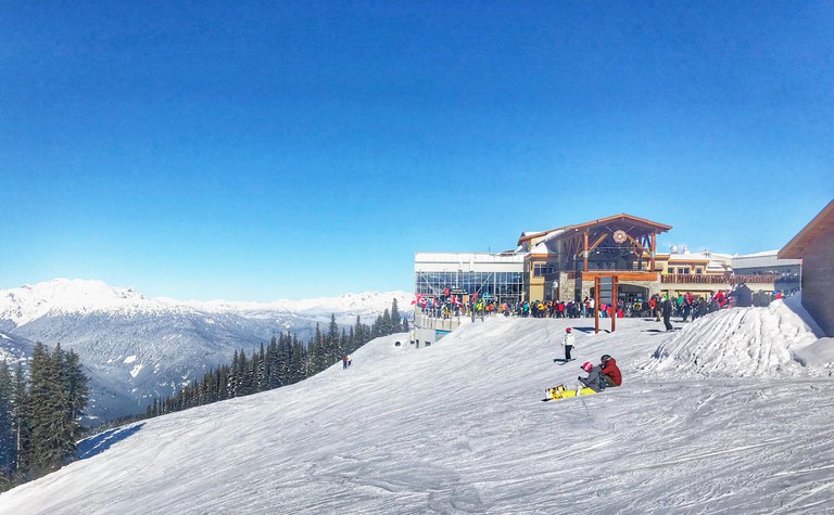 Whistler ski resort from the top of the mountain