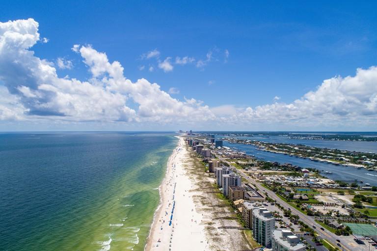 Aerial view of Perdido Key Beach, Florida