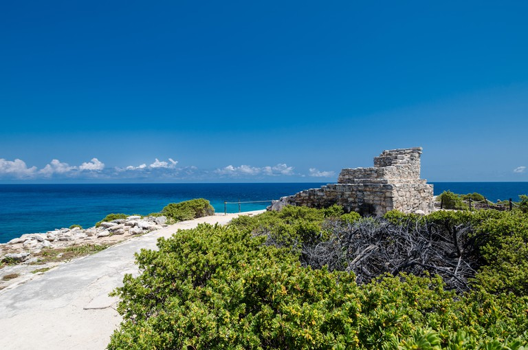 Ancient ruins of the temple of Ixchel, Isla Mujeres