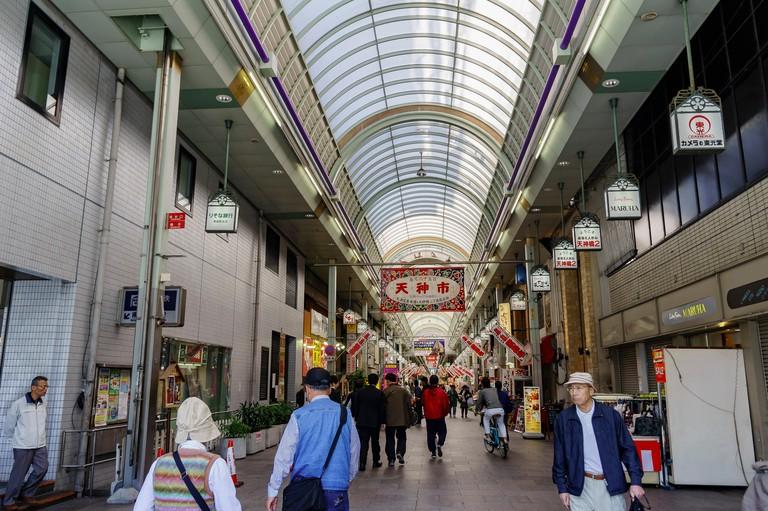 H8RXFX Osaka, APR 29: The famous shopping and food street - Tenjinbashisuji on APR 29, 2011 at Osaka, Japan
