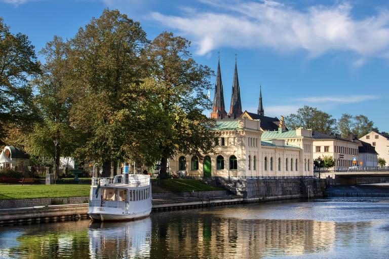 River view in Uppsala, Sweden