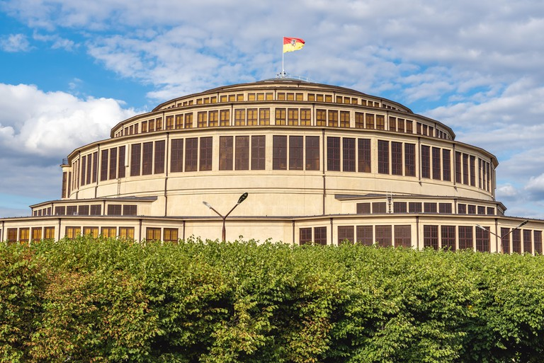 WROCLAW, POLAND - July 17, 2019: Wroclaw Centennial Hall (Hala Stulecia, Hala Ludowa) used for exhibitions, concerts and sporting events.