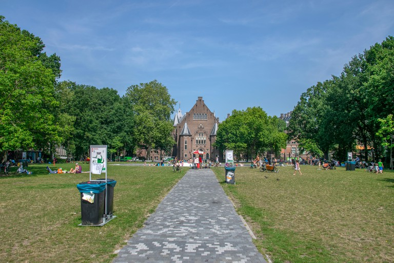 Walking Path At The Oosterpark Amsterdam The Netherlands 2019