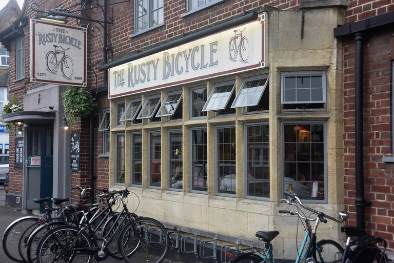 England, Oxford, The Rusty Bicycle pub, Cowley Road district.