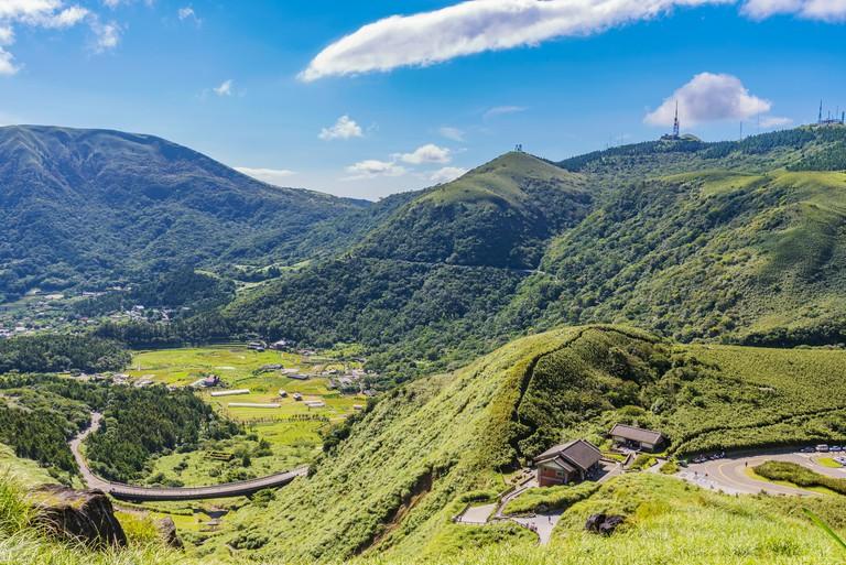 Rural landscape of Yangmingshan national park in Taiwan