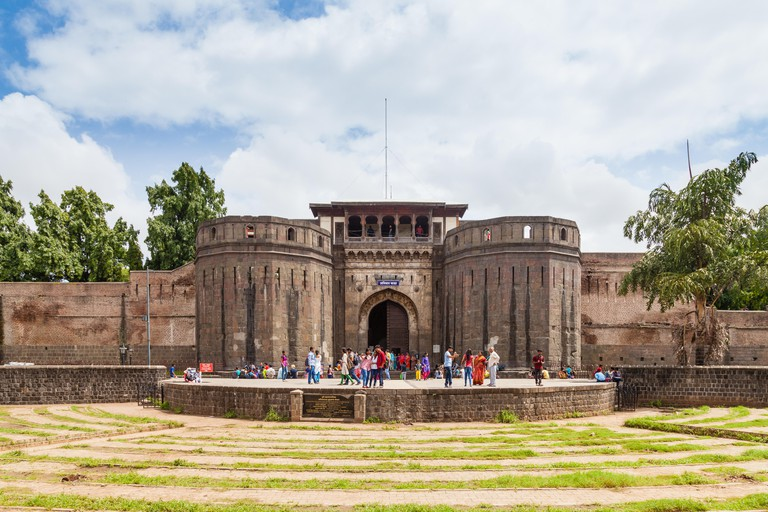 Front view of Shaniwarwada in Pune, India