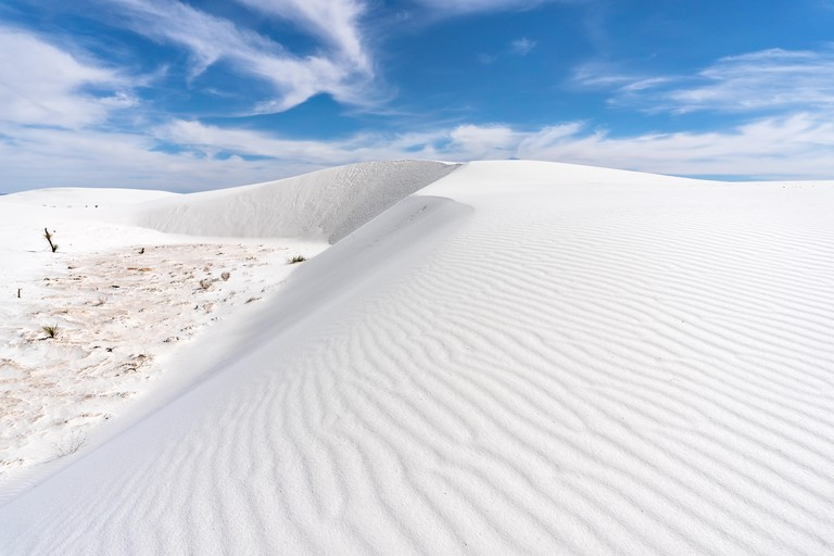 Ripples in a sand dune at White Sands National Monument, New Mexico, USA.
