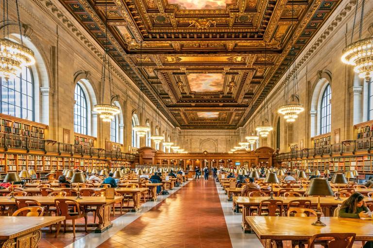 Rose Main Reading Room, New York Public Library, Manhattan, New York, USA