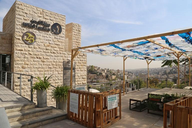 Wild Jordan Centre cafe and shop, Othman Ben Affan Street, Rainbow Street area, Jabal Amman, Amman, Jordan, Middle East