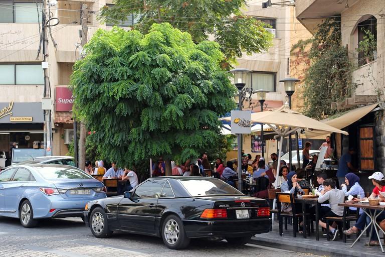 Busy cafes, Rainbow Street, Jabal Amman, Amman 2ACF12J