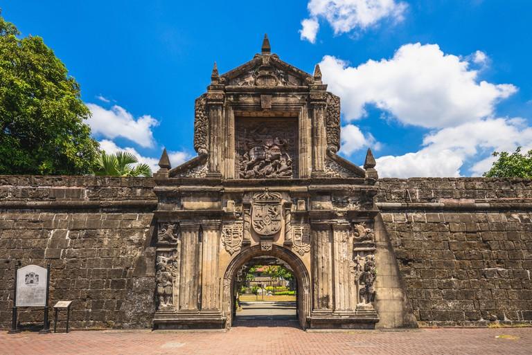 main gate of Fort Santiago in Manila, Philippines