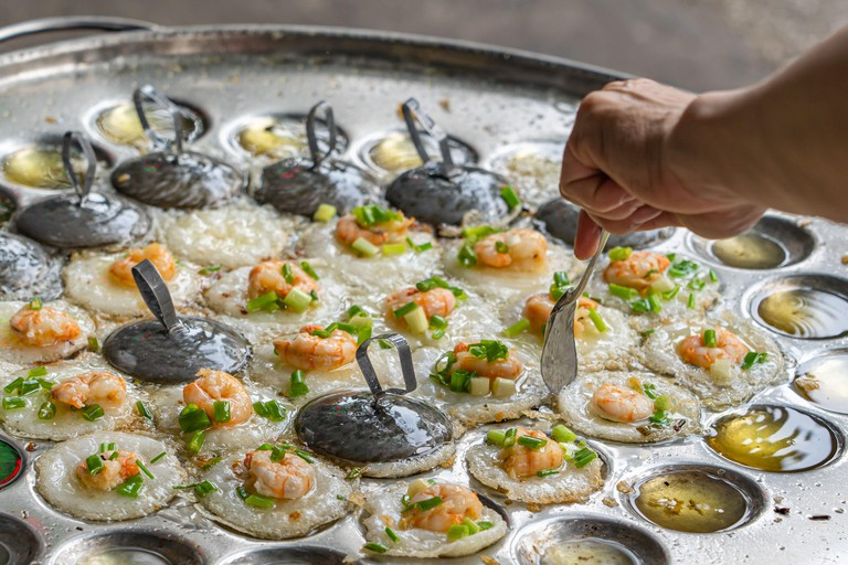 Vietnamese tiny shrimp pancake- Banh Khot Vung Tau