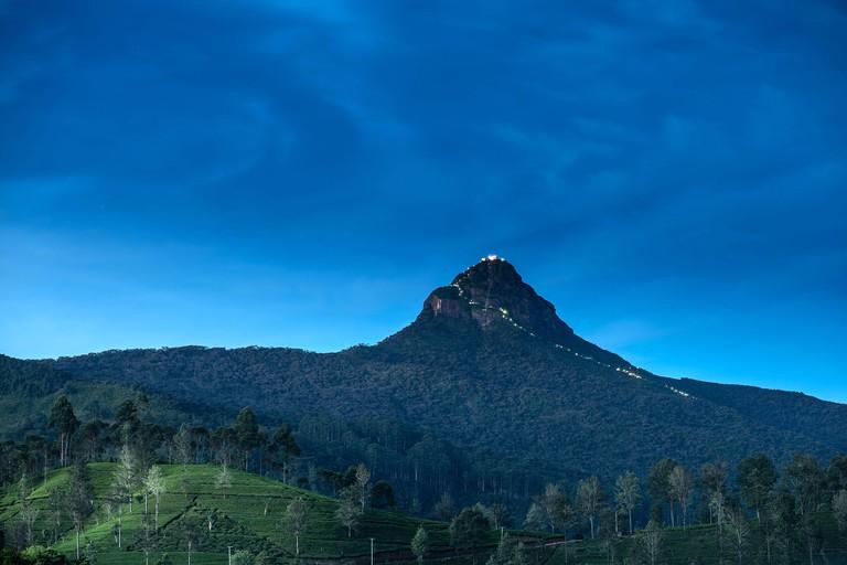 Sri Pada, Adam's peak in Sri Lanka