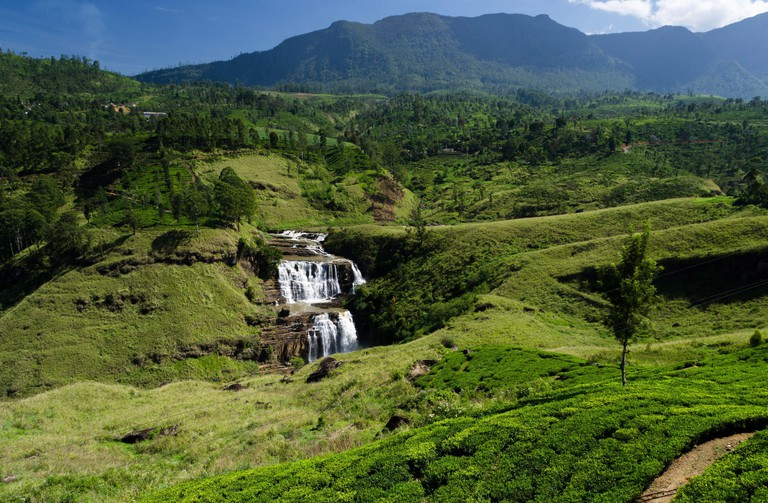 """St. Clair's Falls is one of the widest waterfalls in Sri Lanka and is commonly known as the """"Little Niagara of Sri Lanka"""""""